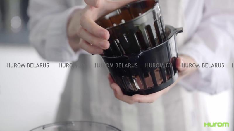 Шнековая соковыжималка HUROM H-100S (слоновая кость)